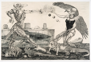 Android promenade_2013 45,5×60cm Dry point, Roulette