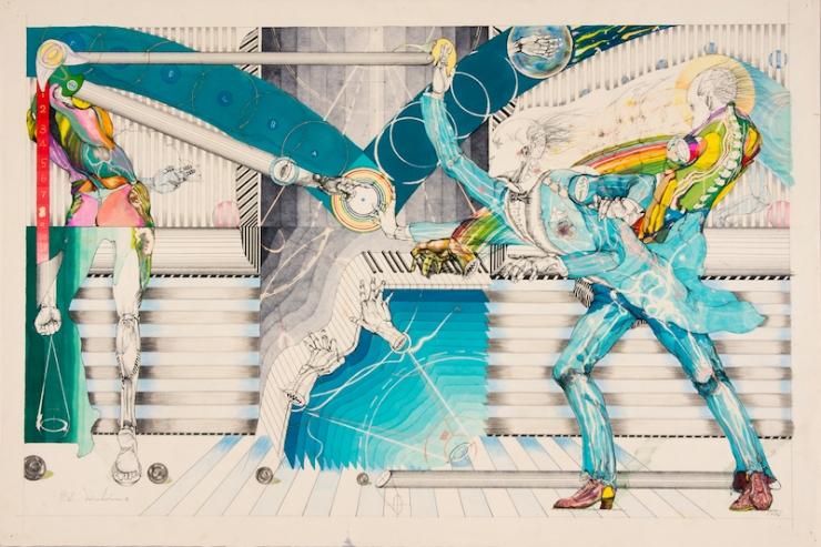 コンダクター 545×845_1979(ペン,カラーインク,他)
