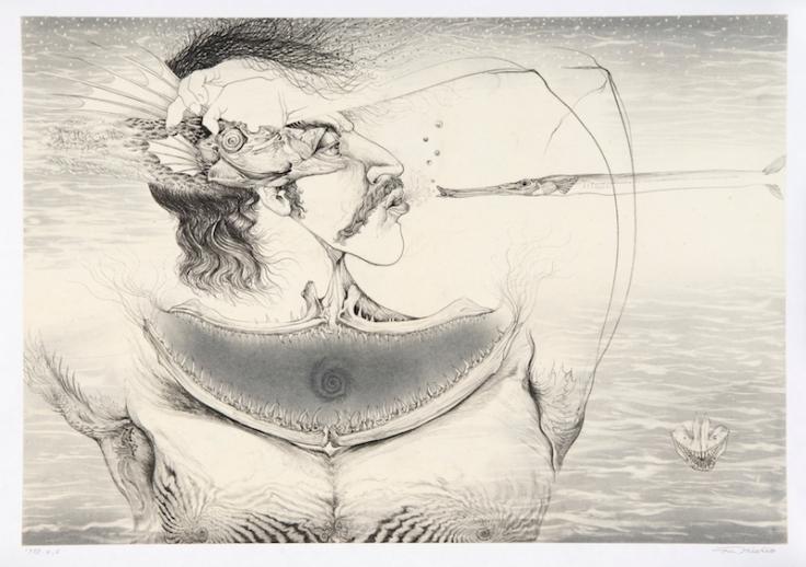 Collar of Neptune 35×49cm Pencil