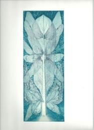 Fairy tree_2012 25×10cm Copper engraving, Colour