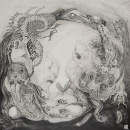 Greed of Ouroboros 72×72cm Pencil