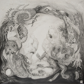 Greed of Ouroboros 72×72cm Pencil