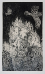 The limen・Ⅲ 45×26cm Copper engraving, Etching, Dry point, One edition multi-colour printing