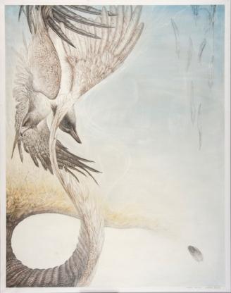 IKAROS・Ⅰ 94×74cm Silver pencil, Pencil, Pastel