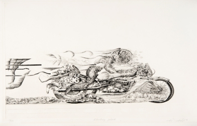 starting point-1 _1982 36,5×60cm Copper engraving, Etching
