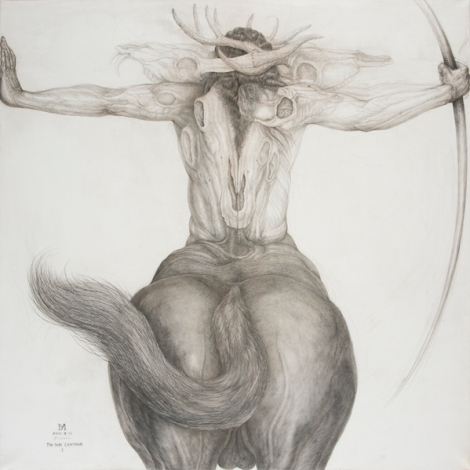 The last CENTAUR・♂ 91,5×91,5cm Silver pencil, Pencil
